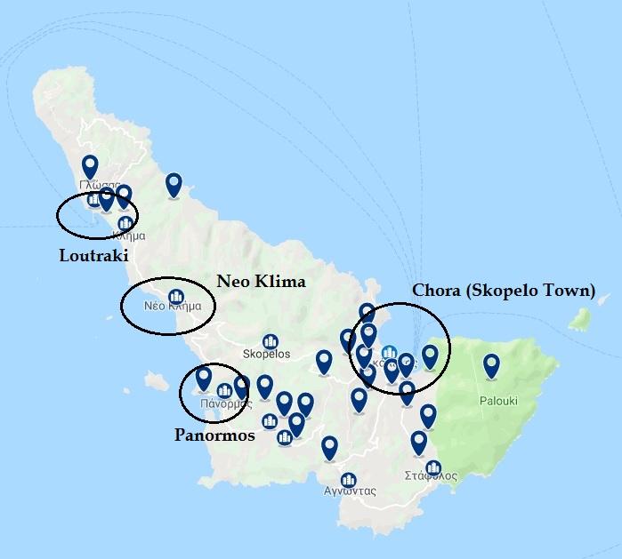 donde alojarse en Skopelos